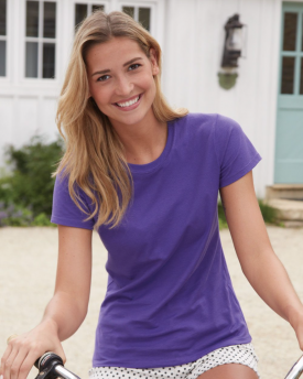 Hanes SL04 Ladies' 4.5 oz., 100% Ringspun Cotton nano-T® T-Shirt